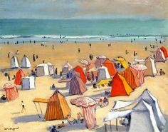 The Sandy Beach at Olonne - Albert Marquet (1938)