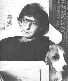 Barry Manilow and his beagle Bagel.