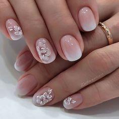 Purple Acrylic Nails, Metallic Nails, Pink Nails, Nail Art Designs Videos, Best Nail Art Designs, Cute Gel Nails, Pretty Nails, Elegant Nails, Stylish Nails