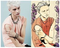 Oh my God, I've just found the Photographic references Cassandra Jean used to draw Sebastian! This guy is the model Benjamin Jarvis... This is so weird...