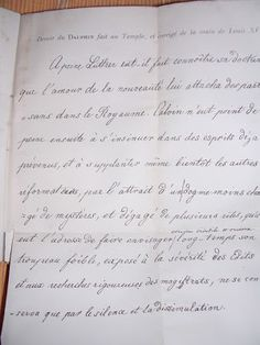 Exercise book of Louis XVII with the corrections of Louis XVI