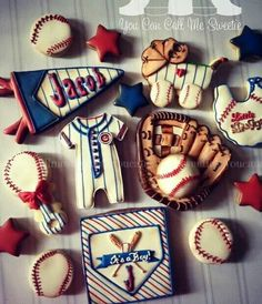 You Can Call Me Sweetie: Vintage Baseball themed baby shower.