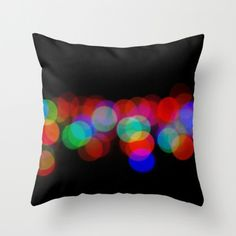 Night Lights Pillow Cover Lights At Night Street Photography Bokeh Lights Colored Lights Dots Abstract Phography on Etsy, $28.00