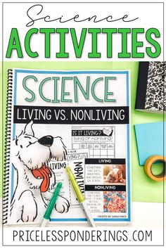 Take the stress out of planning your science class with these worksheets and activities! Your students will love learning about living and nonliving things. Sorting Activities, Hands On Activities, Science Activities, Vocabulary Word Walls, Vocabulary Cards, Fourth Grade Science, Elementary Science, Living And Nonliving, Fun Worksheets