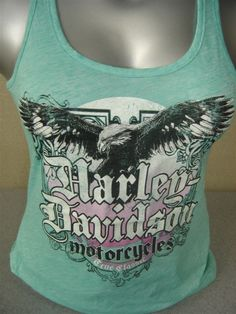 Harley Davidson Womens LDS True Classic Razor Back Tank - Perfect tank for Spring. Great color!