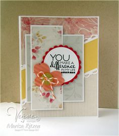 Handmade card by Marisa Ritzen using the Bloom & Grow set from Verve.  #vervestamps