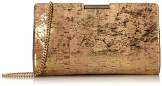 Amazon.com: MILLY Cork Small Frame Convertible Clutch, Gold, One Size: Clothing