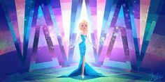 Movie - Frozen  - Elsa - The  - Snow - Queen - Of - Arendelle Wallpaper