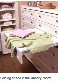 Replace one drawer with a laundry folding table. Cool.