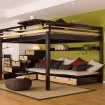 18 Loft Beds for Adults Ideas for Limited Space - Avionale Design Loft Beds for kids youth teen college students adults Start with the Basic Loft Bed and design yourself a bed to fit your space, storage and budget needs. Pallet Loft Bed, Build A Loft Bed, Loft Bed Frame, Loft Bed Plans, Loft Beds For Small Rooms, Modern Bunk Beds, Small Room Bedroom, Bedroom Loft, Trendy Bedroom
