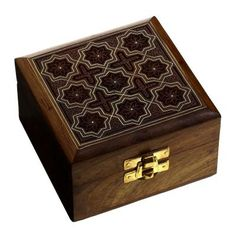 Handmade Jewelry Box Wood Carved Christmas Gift for Sister - Wood jewelry box from India; Size: Length - 4 inches, Width - 4 inches, Height - 2.25 inches.; Handcrafted and hand carving work.; Made by artisans of Saharanpur famous for wood carving.; Used for protecting and preserving Jewelry Indian way.