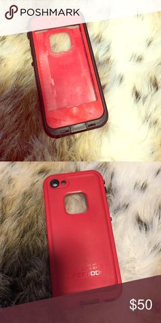 Red lifeproof IPhone 5 case Used but still in good condition and fully protects your phone. I am selling a black one with the workout band as well so if you want to switch out the colors you can do that too or will sell individually. LifeProof Accessories Phone Cases