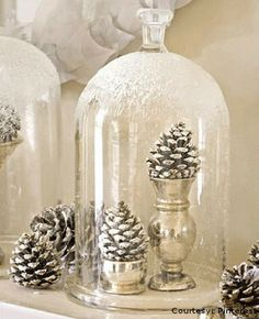 spray painted pine cones Beautiful Ways to Decorate with Pine Cones this Christmas
