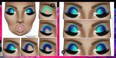Simple Eyeshadow, Eyeshadow Ideas, Eyeshadow Makeup, Makeup Cosmetics, Creative Eye Makeup, Colorful Eye Makeup, Makeup Ideas, Makeup Tips, Beauty Makeup