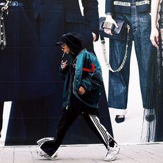 adidas Black Adibreak Popper Track Pants   Urban Outfitters   Men's   Joggers via @samirnovotny #UOEurope #UrbanOutfittersEU #UOMens #UOonYou