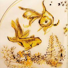 Julia Prusi: Goldfish #inktober2016 Illustration Art, Illustrations, Drawing Challenge, Goldfish, Fish Tank, My Arts, Sketches, Portrait, Drawings