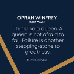 Call to action to dial up your inner diva and know that when you face a failure it's not a set back but a step forward! Thanks Oprah 🙏 Call To Action, Queen, Oprah Winfrey, Carry On, Fails, Diva, Thankful, Thoughts, Hand Luggage
