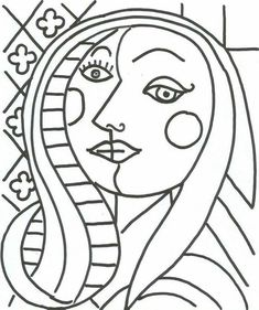 Coloriage Portrait Picasso - Through the thousands of photos online in relation to Coloriage Portrait Picasso, we all Pablo Picasso Drawings, Kunst Picasso, Art Picasso, Picasso Style, Picasso Paintings, Portrait Picasso, Portraits Cubistes, Pablo Picasso Zeichnungen, Pop Art Drawing