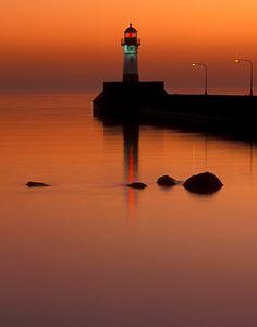 #Lighthouse at dusk http://www.flickr.com/photos/phawkinsphoto/3534344317/