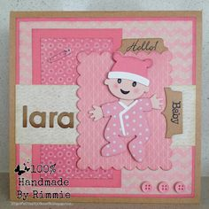 Handmade By Rimmie: Hello! Baby Girl Cards, New Baby Cards, Girls Album, Designer Baby, Marianne Design, Punch Art, Baby Crafts, Baby Design, Making Ideas