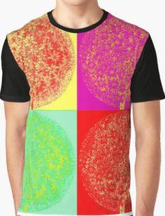 """""""Vintage Dreams"""" - Dandelion Pop ART Style x4 Graphic T-Shirt"""