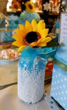 centerpiece; same as h 4th bday but different colors