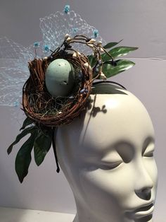 A personal favorite from my Etsy shop https://www.etsy.com/listing/582283718/blue-fascinator-horse-racing-birds-nest