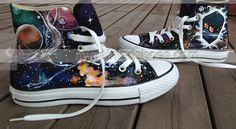 Doctor Who Shoes Galaxy Shoes High-top Painted Canvas Shoes