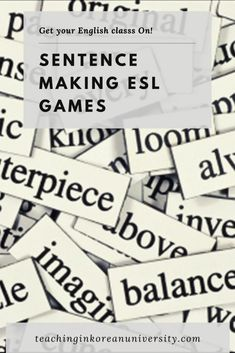 Find out the best ESL games and activities for making sentences in English. Help students who are learning English out with making better sentences with these engaging, student-centred and interactive games and activities, along with lesson plans, worksheets and online practice recommendations.  #sentence #sentences #grammar #eslgrammar #englishgrammar #teachinggrammar #grammarteacher #grammarteaching #tefl #efl #esl #tesol #tesl #englishteacher Make Sentences In English, Teaching English Grammar, Learning English, Making Sentences, Some Sentences, Sentence Structure Lessons, Teach English To Kids, English Help, Efl Teaching