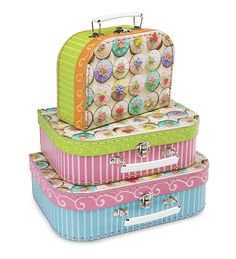 Cupcake Nesting Suitcases, set of 3