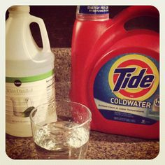 Dog Urine Odor Be Gone!  Tested and proven.  All you need is a water bottle + H2O + White Vinegar + Tide Detergent.  Use 6 oz water, 2 oz Vinegar and 1 tablespoon of Tide.  Squirt on affected area and Voila, odor should be gone in less than 24 hours!  I used this on my carpet, pillows and couch (new puppy!) Works like a charm.