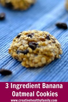 Easy to make, healthy and delicious cookies made with only 3 ingredients. These banana oatmeal cookies are great for breakfast or healthy snack. Kids will love them too. #snack #breakfast #recipe #oatmeal #banana Homemade Cookie Dough, Healthy Cookie Dough, Homemade Chocolate Chip Cookies, Healthy Cookie Recipes, Healthy Baking, Healthy Desserts, Banana Oatmeal Cookies, Healthy Oatmeal Cookies, Oatmeal Cookie Recipes
