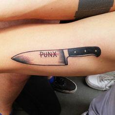 #tattoos #tattoo #tattooartist #tattooed #tattooist #traditional #traditionaltattoo #knifetattoo #knife #kitchenknifetattoo #punx