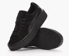 480595dbf374c Find out all the latest information on the PUMA x Rihanna Basket Creepers  Triple Black, including release dates, prices and where to cop.