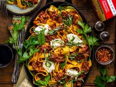 Ricotta, Pork Ragu, Shredded Pork, French Home Decor, How To Cook Pasta, Pork Recipes, Stuffed Peppers, Cooking, Healthy