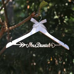 Aliexpress.com : Buy Personalized Wedding Hanger,Name hanger, Rustic Wedding Dress Hanger, Custom Wood Bridal  Name Hanger,arrow and heart hanger from Reliable hanger cover suppliers on Paperpop stationary