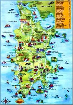 Best Funky Map of Phuket, Thailand. We book Golf-Tours-Hotels-Spa's-Scuba & more in Phuket Thailand. Phuket Thailand, Map Of Phuket, Phuket Travel, Phuket Resorts, Thailand Honeymoon, Thailand Travel, Asia Travel, Kata Beach Phuket, Backpacking Thailand