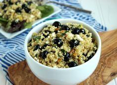 Blueberry, Feta and Quinoa Salad with Lemon Basil Dressing