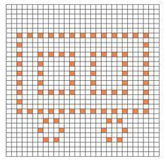 Ravelry: Train Car Bobble Chart by Kari Philpott Bobble Stitch Crochet Blanket, Crochet Stitches Chart, Graph Crochet, Crochet Square Patterns, Crochet Squares, Filet Crochet, Crochet Blanket Patterns, Crochet Motif, Stitch Patterns