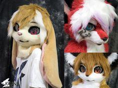 Recent fursuit heads - by Kemono-LINE