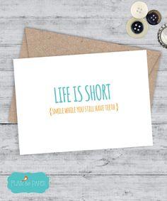 Friend Card Boyfriend Funny Birthday By FlairandPaper Greeting Cards