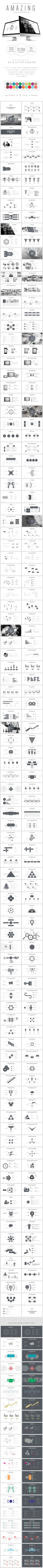 Amazing Black and White presentation template on Behance