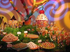 Willy Wonka Theme candy buffet