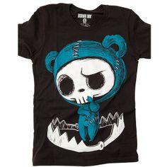 "Women's ""Bear Trapped"" Tee by Akumu Ink (Black) #InkedShop #tee #clothing #top #womens #style #fashion #cute"