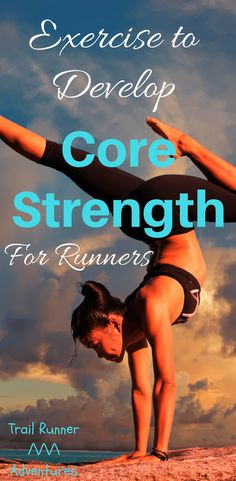 Exercises to Develop Core Strength in Runners. Marathon Training For Beginners, Running For Beginners, Half Marathon Training, Workout For Beginners, Running Diet, Running Workouts, Trail Running, Running Training, Strength Training For Runners