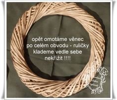 Věnec omotávaný (vrstvený) Laundry Basket, Wicker Baskets, Wreaths, Crowns, Photograph Album, Door Wreaths, Deco Mesh Wreaths, Floral Arrangements, Garlands