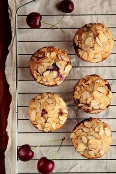 Cherry Almond Muffins by pastryaffair