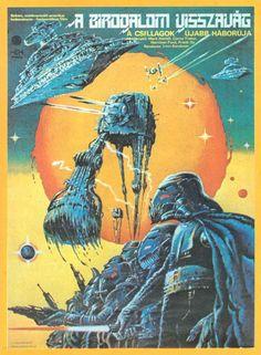 Star Wars V: The Empire Strikes Back Hungarian poster #starwars #poster