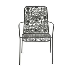 Studio 350 Chic Looking Metal Outdoor Chair, Black, Size Single, Patio Furniture (Iron) Balcony Chairs, Patio Rocking Chairs, Outdoor Dining Chairs, Dining Arm Chair, Outdoor Lounge, Outdoor Sofas, Arm Chairs, Adirondack Chairs, Lounge Chairs