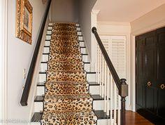 Beau One Room Challenge | Foyer Remodel | Leopard Stair Runner